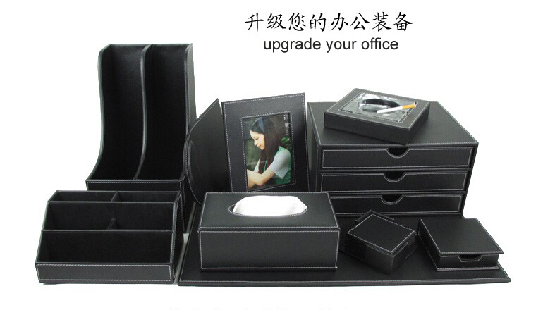 Online Buy Wholesale leather office desk accessories from China