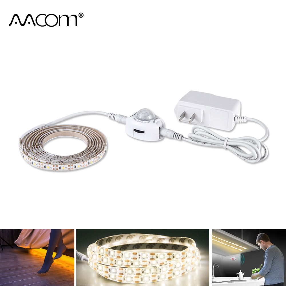 1M-5M LED Under Cabinet Lights PIR Motion Sensor 2835 DC 12V LED Strip Under Bed Lamp For Bedroom Stairs Kitchen Wardrobe led lamp with motion sensor 6 10 leds diode night light wireless pir lamp under cabinet lights for under kitchen cabinets