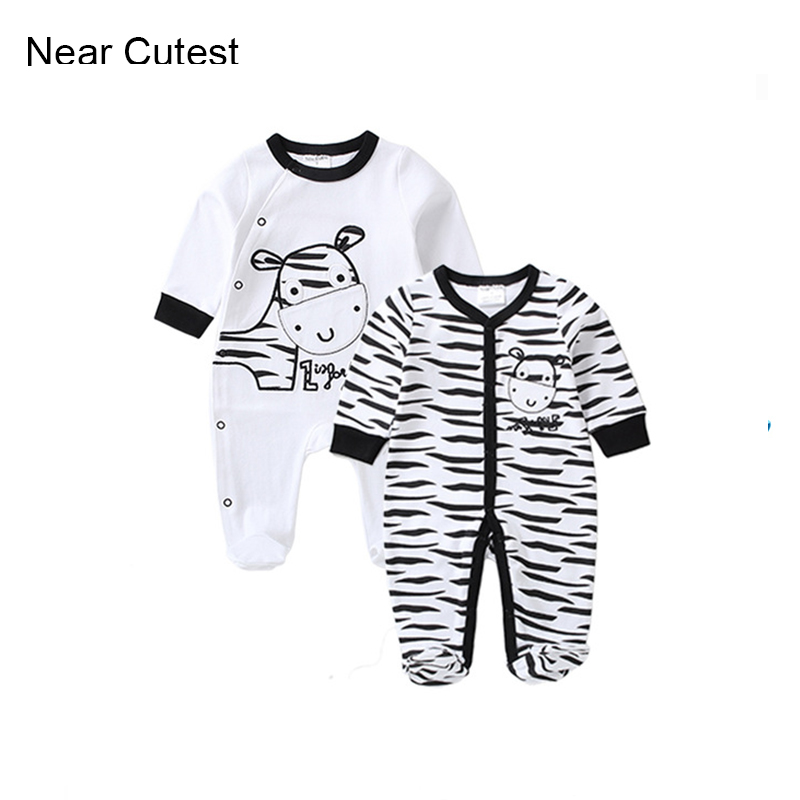 Near Cutest 2017 Spring Baby Boy Girl Clothes Long Sleeve Cotton Newborn Baby Romper Next Jumpsuits & Rompers Baby Product 2017 baby girl summer romper newborn baby romper suits infant boy cotton toddler striped clothes baby boy short sleeve jumpsuits