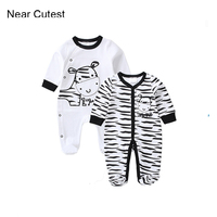 2017 Spring Baby Boy Girl Clothes Long Sleeve Cotton Newborn Baby Romper Next Jumpsuits Rompers Baby