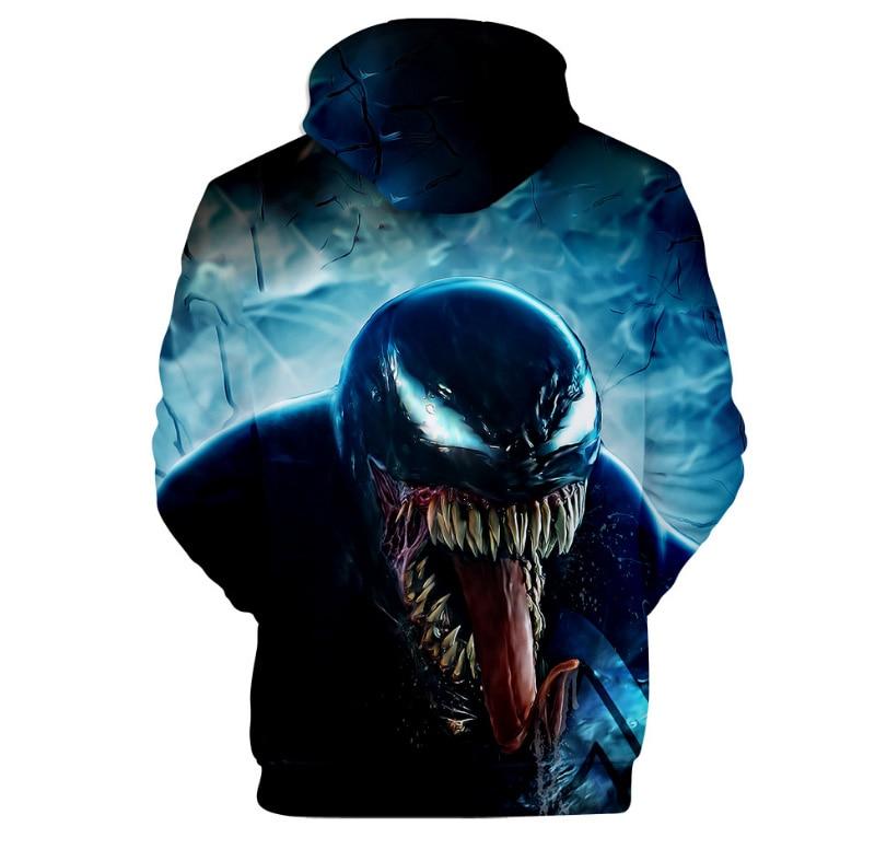 Comic Venom Hoodie Sweatshirts Men Superhero Anime Cool Black Autumn Winter Tops Plus Velvet Warm Hoody Couple Hip Hop Pullovers (9)