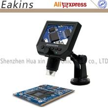 """1-600x 3.6MP USB Mikroskop Cyfrowy Elektroniczny Przenośny 8 LED VGA Z 4.3 """"monitor Rosyjski lokalna przybywa dostawy szybko"""