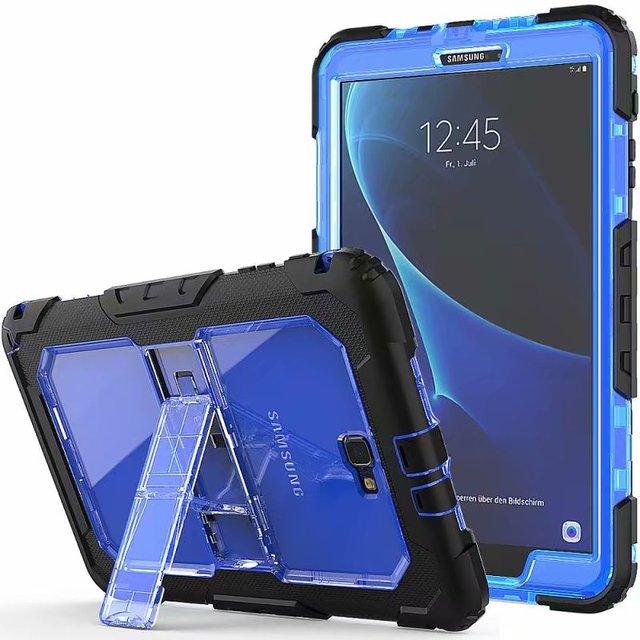 Tablet A prueba de golpes A prueba de servicio pesado con soporte colgar caso para Samsung Galaxy Tab A A6 10,1 2016 T580 T585 SM-T585 T580N funda + bolígrafo