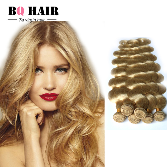 BQ Hair Products Mink Short Weave Hair Peruvian Virgin Hair 613 Blonde Hair  Extension DHL Free c4aa8f0c8f0e