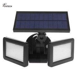 48LEDs Dual Head Solar Light Radar Sensor Spotlight Waterproof Outdoor Solar Garden Light Super Bright Yard Flood LED Lamp
