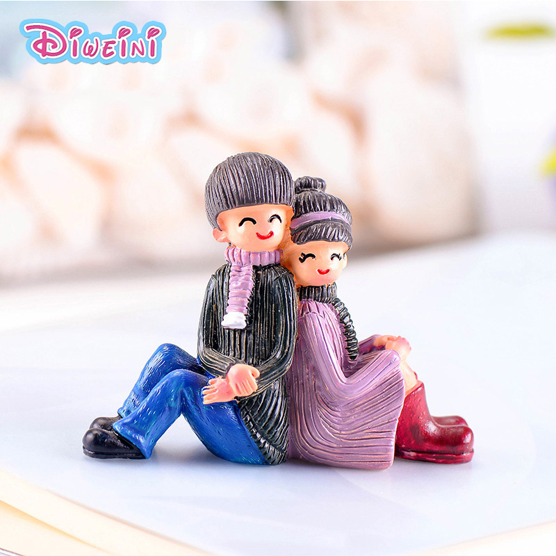 Back to Lover Miniature Figures Cartoon anime character model Figurine pretend house toy doll accessories cake decoration