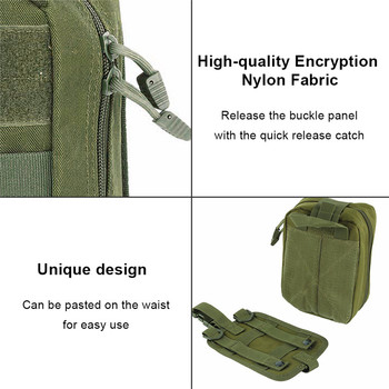 AIRSOFTPEAK Medical First Aid Pouch Tactical MOLLE Portable Outdoor Travel Camping Kit Survive Bag Cover Hunting Emergency Pack 3
