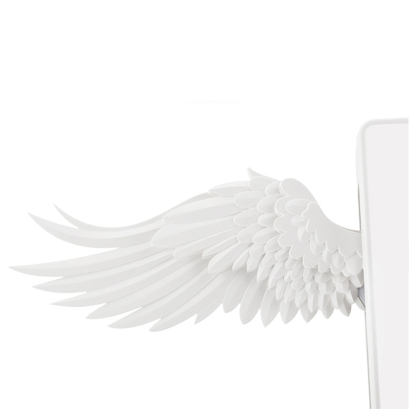 Bird - 10W Wireless Charger Angel Wings Night Light Mobile Phone Wireless Charger for Android Apple USB Fast Charge with Night Light