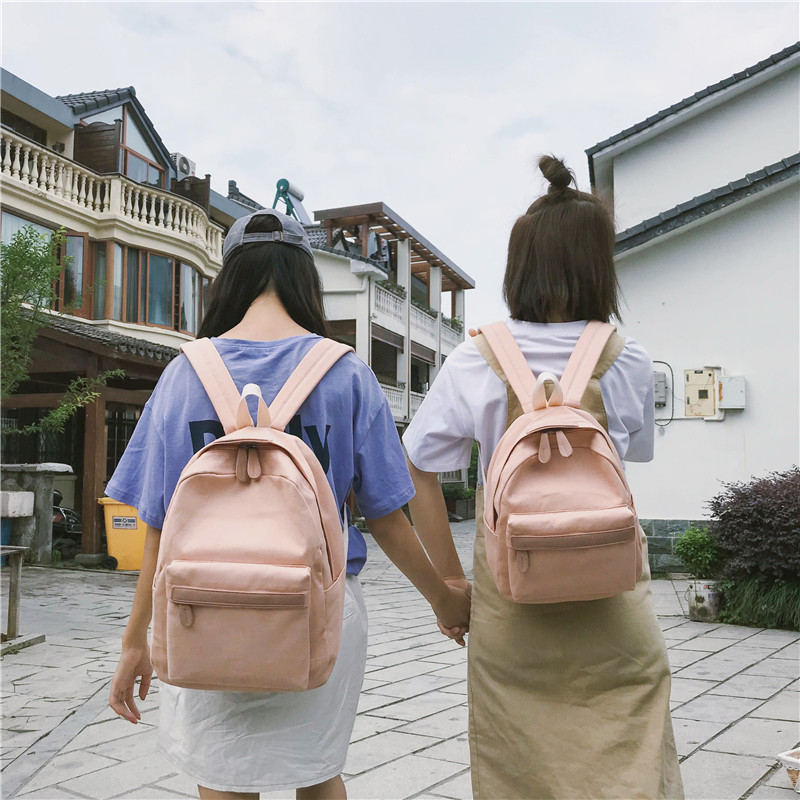 HTB1NhWrXPDuK1Rjy1zjq6zraFXaK 2019 Women Canvas Backpacks Ladies Shoulder School Bag Backpack Rucksack for Girls Travel Fashion Bag Bolsas Mochilas Sac A Dos