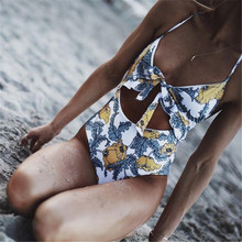 Bikini Sets Swimsuit Female one Piece Swimwear Women Push Up High Waist Floral  plus size swimwear