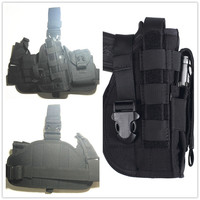 2016 HOT Combination Tactical Gun Holster Molle Modular Pistol SETS Leg Holster For Right Handed Shooters
