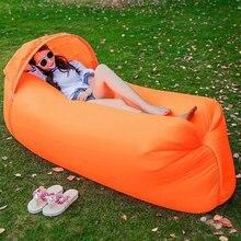 Быстро надувная лодка Новый Форма ленивый мешок воздушный диван Открытый Отдых laybag притон лежак пляжные воздуха, кровать складывая Спальный Ленивый Сумка