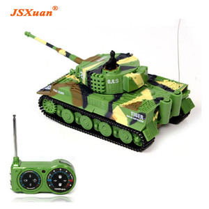 JSXuan Simulation German RC Tiger Tank 14 CH 1:72 Remote Control Simulated Panzer Mini Tanks For Child Toy kids gift