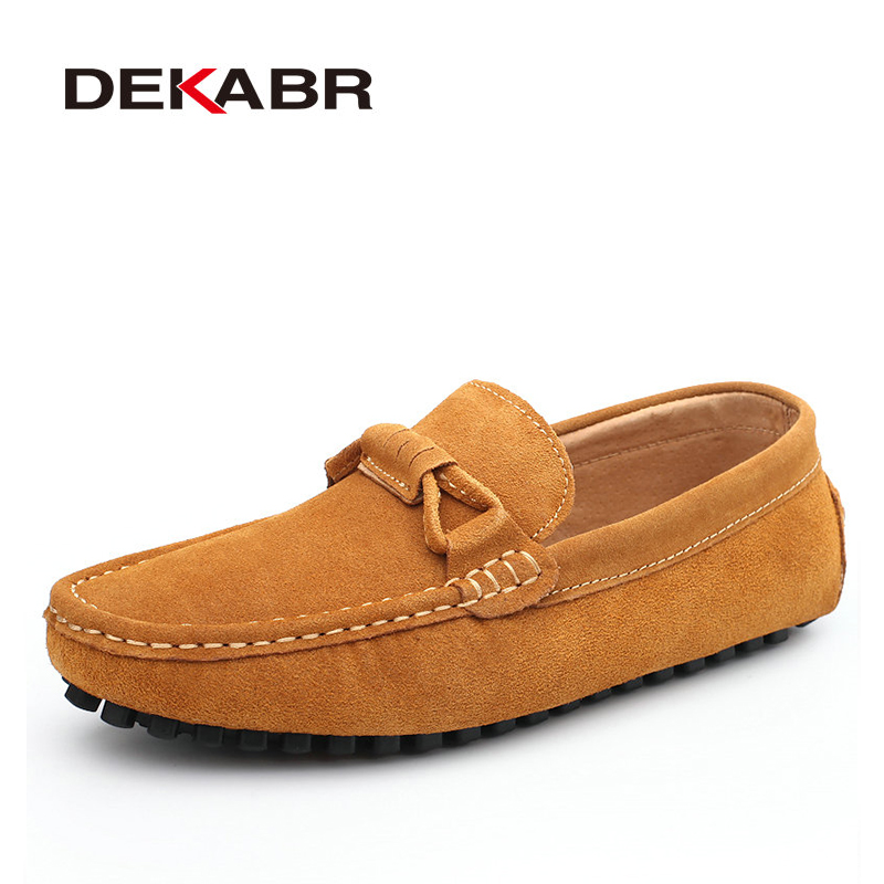 Image 5 - DEKABR New 2020 Men Cow Suede Loafers Spring Autumn Genuine Leather Driving Moccasins Slip on Men Casual Shoes Big Size 38~46moccasins menmoccasin loafers menmoccasins men loafers -