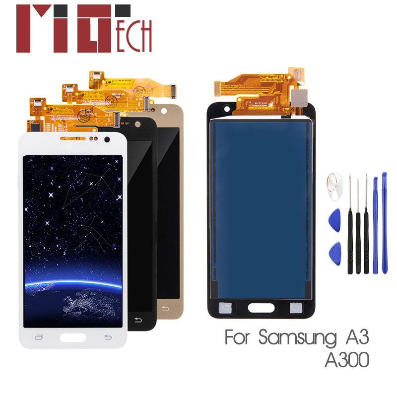 TFT <font><b>LCD</b></font> For <font><b>Samsung</b></font> Galaxy A3 2015 <font><b>A300</b></font> A3000 A300F A300M <font><b>LCD</b></font> Display+Touch Screen Assembly brightness Can adjust image