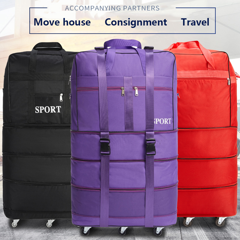 158 Air Consignment Baggage Large-capacity Study Abroad Suitcase Aircraft Consignment Cardan Wheel Folding Baggage