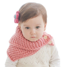 Warm Autumn Winter Baby Kids Scarf Children Fashion Knitted Button Scarves Boys Girls Cotton Neck Warmer Baby Cloth Accessories