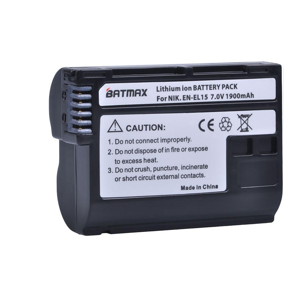 1Pc Decoded EN-EL15 ENEL15 EN EL15 Camera Battery for Nikon D500,D600,D610,D750,D7000,D7100,D7200,D800,D850,D810,D810A&1 V1 3pcs 1900mah en el15 enel15 el15 battery led usb dual charger for nikon d500 d600 d610 d750 d7000 d7100 d7200 d800 d800e d810