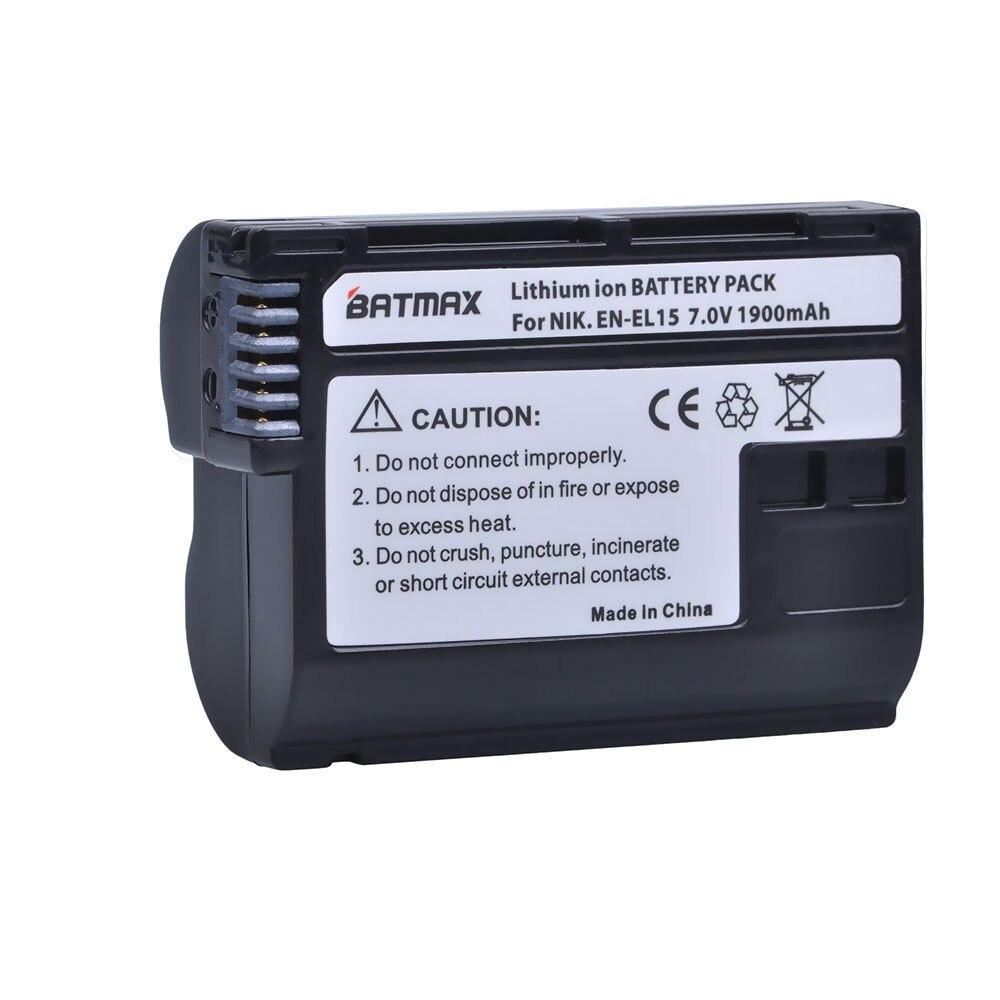 1Pc Decoded EN-EL15 ENEL15 EN EL15 Camera Battery for Nikon D500,D600,D610,D750,D7000,D7100,D7200,D800,D850,D810,D810A&1 V1
