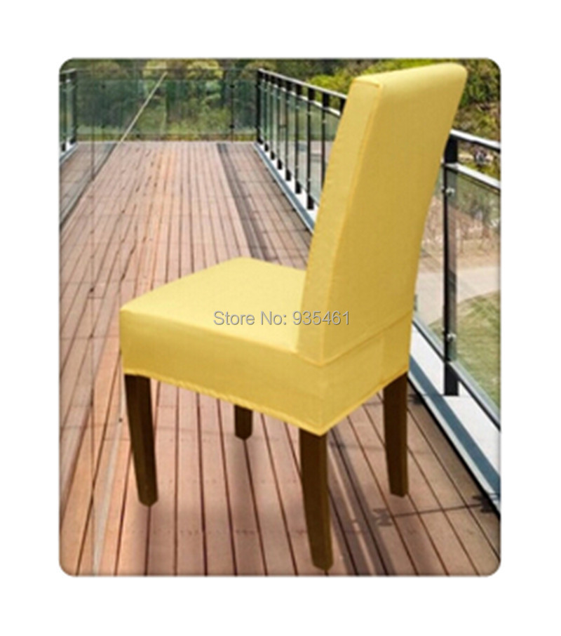 yellow chair covers bedroom with ottoman 100pcs lycra surefit spandex short dining cover cheap