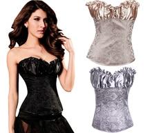 NEW lace jacquard wedding underbust Sexy lingerie Waist Workout Cincher Body Shaper Shapewear Corset S 6XL