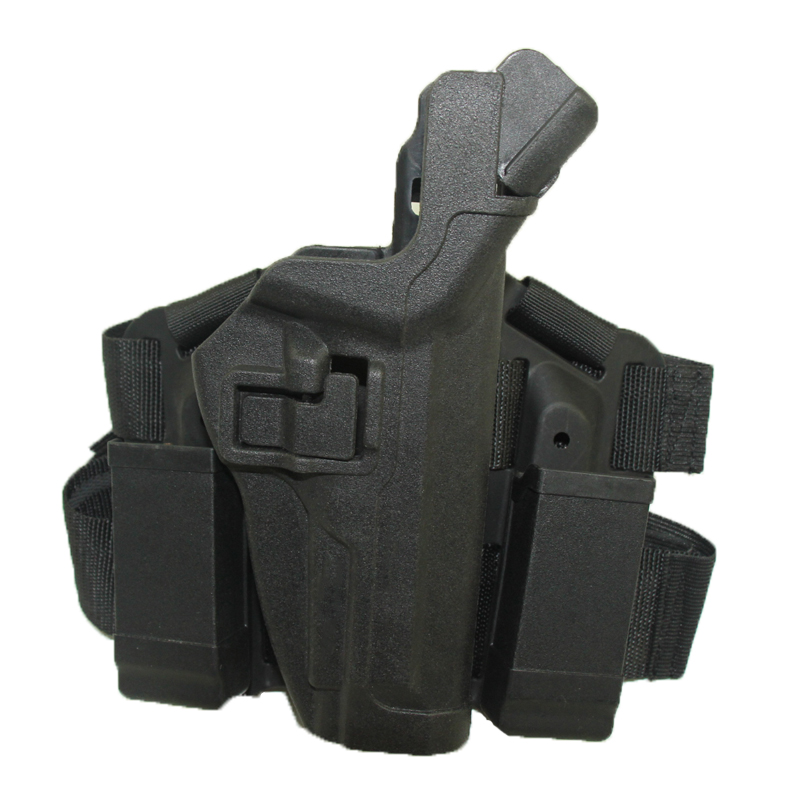 Alta Calidad M9 Shooting Airsoft Tactical Holster Muslo Pierna Diestra Holster F