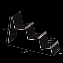 Wholesale 4 Plastic Clear View Wallet Display Stand Holder 3 Tiers 120330WS-04