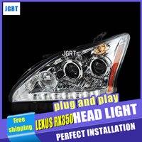 Стайлинга автомобилей фар сборки 2004 2009 для Lexus RX350 захотите никуда уходить Ангел глаз светодиодный DRL Объектив Двойной Луч H7 hid комплект с 2 шт