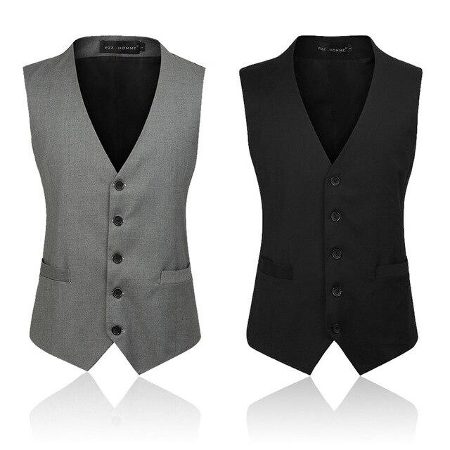 2017 Brand Mens Suit Vest Men Business Casual Vest Single-breasted Men 3XL Beckham Vest Patchwor 2 Color Fashion Avaliable HY822