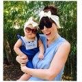 Wholesale Mom and Me boho Turban Headband Pair Set Top Knotted Headband Set Fashion Baby and Mommy Cotton Headwrap Set  100 SET