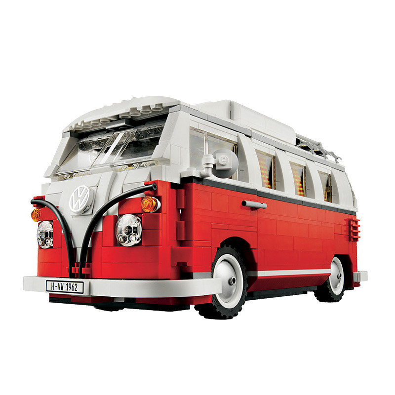 DIY the T1 Camper Van Model Building Blocks kits Compatible with legoing 10220 Car Christmas Toys for children birthday gifts 306 21001 the t1 camper van model building kits compatible with lego blocks 10220 technic car educational toys hobbies for k