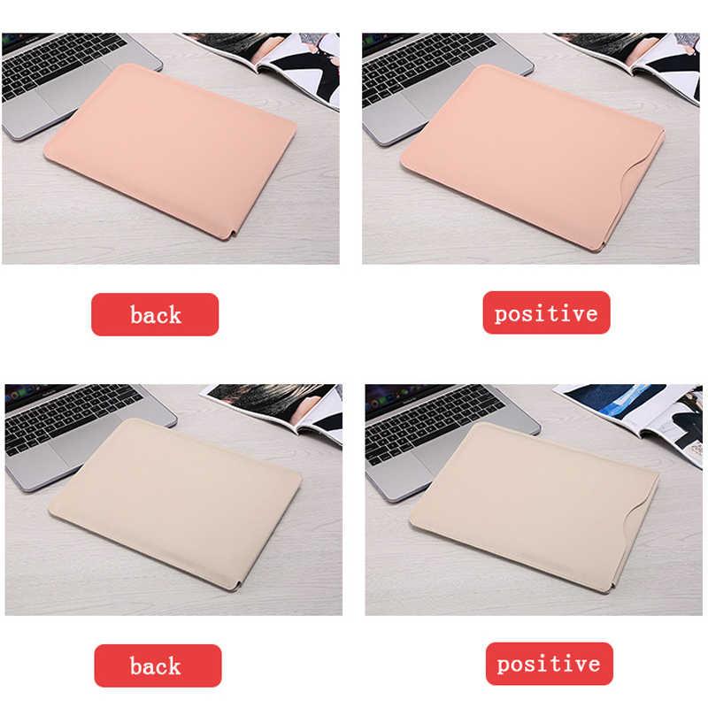 بو الجلود حقيبة لاب توب شنطة لحمل macbook الهواء الشبكية 11 12 13 15 15.4 دفتر حالة ل Xiaomi برو 15.6 سطح محمول 13.5 غطاء