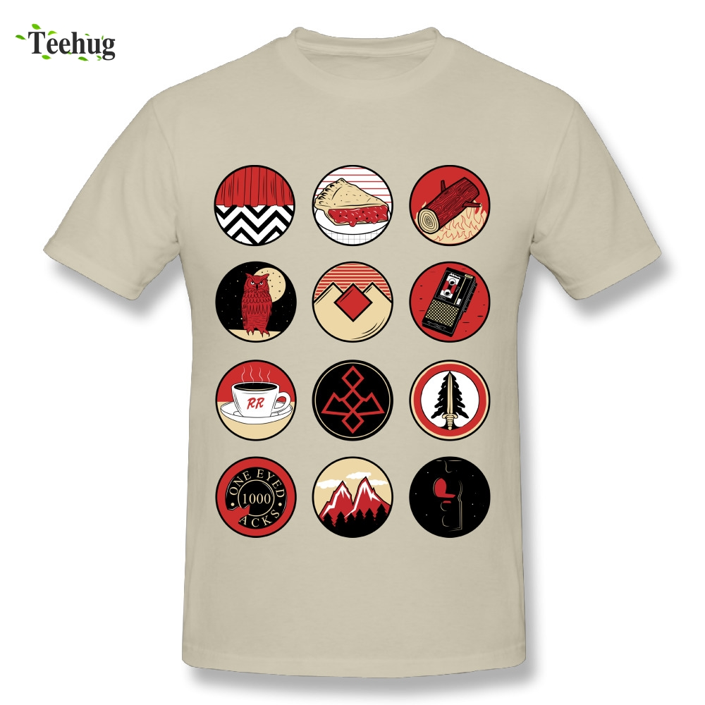 Fashion Streetwear Male Twin Peaks Icons T shirt 100% Cotton Classic Movie T-shirt