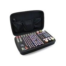 1pc recarregável 9v aaa aa bateria titular caso organizador de bateria saco caixa de armazenamento de bateria eva para 146 pçs aa aaa gama pilhas saco