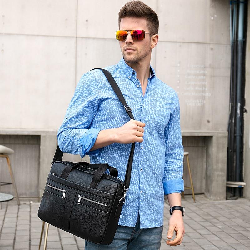 WESTAL Bag men s Genuine Leather briefcase Male man laptop bag natural Leather for men Messenger WESTAL Bag men's Genuine Leather briefcase Male man laptop bag natural Leather for men Messenger bags men's briefcases 2019