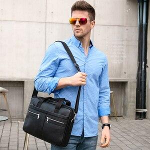 Image 2 - WESTAL Bag mens Genuine Leather briefcase Male man laptop bag natural Leather for men Messenger bags mens briefcases 2019