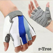 Bike Cycling Gloves Men's Motorcycle Gel Silicone Half Finger Bicycle Gloves
