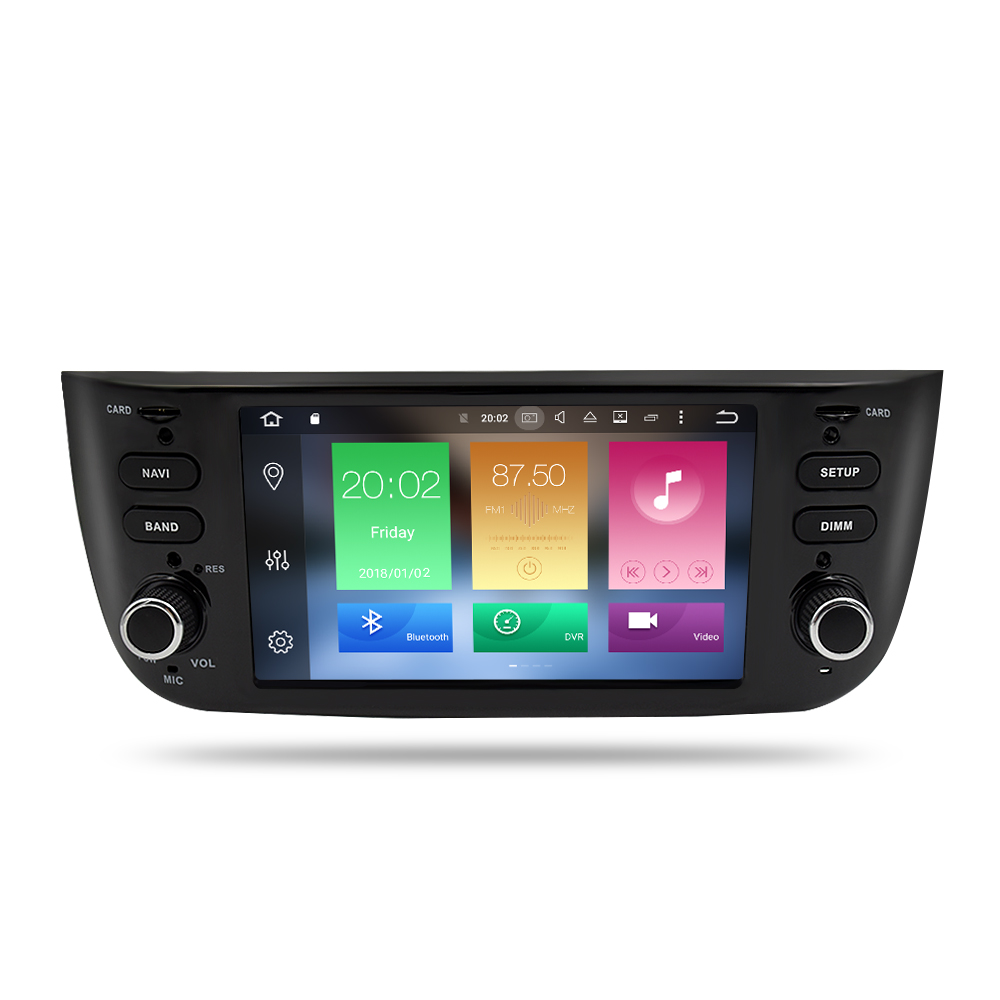 Image 2 - Android 9.0 Octa Core Car Stereo Multimedia Player for Fiat Grande Punto Linea 2012 2017 Auto Radio Audio FM WIFI GPS Navigation-in Car Multimedia Player from Automobiles & Motorcycles