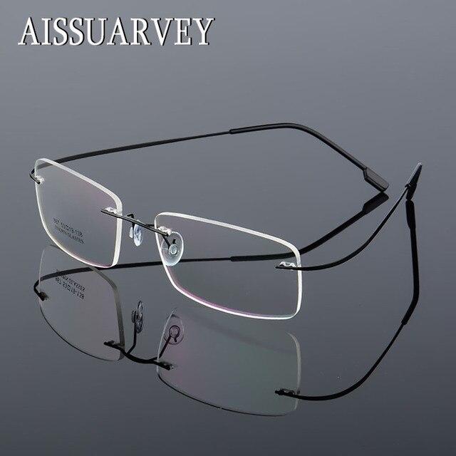 5342adfcd977 Men's Women's Glasses Frames Rimless Eyeglasses Optical Brand Designer  Prescription Titanium Alloy Light Business Eyewear Cheap