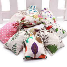 2pcs/pack Gift Candy Bags Party Event Linen Burlap Bag Drawstring Pouch Jewelry Box Cartoon Christmas Jute Draw pocket Optional цена
