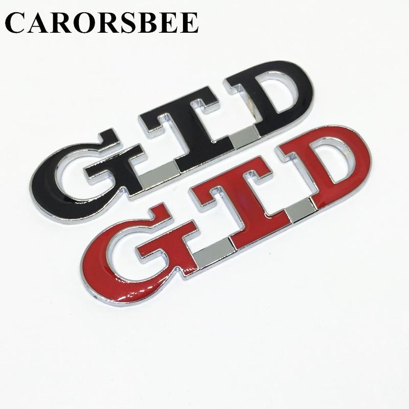 CARORSBEE GTD 3D metal Emblem Car sticker Zinc alloy Badge Auto Tail Decal car styling For POLO golf 7 passat b6 MK4 MK5 MK7 GTI golf 3 td 2011