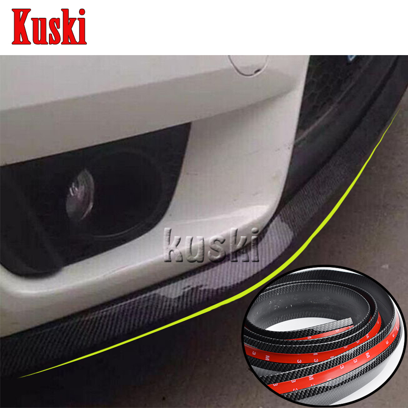 2.5m Car Front Chin Spoiler Stickers For Nissan Qashqai X-TRAIL Juke TIIDA Note Almera March Citroen C4 C5 C3 C2 Accessories купить бампер nissan almera n16