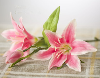 Artificial Flowers New style arrival lily perfume artificial flower silk flower dining table flowers