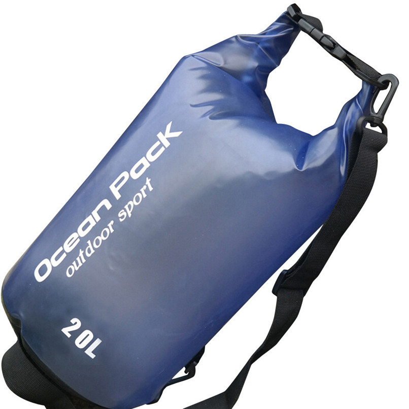 20L PVC Waterproof Dry Bag Outdoor Sport Swimming Rafting Kayaking Sailing Bag Outdoor waterproof bag #2f19 (2)