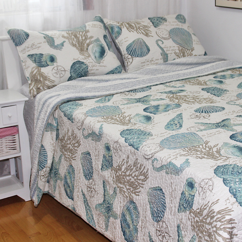 3pcs bedding set 230 250cm stitching quilts pure cotton
