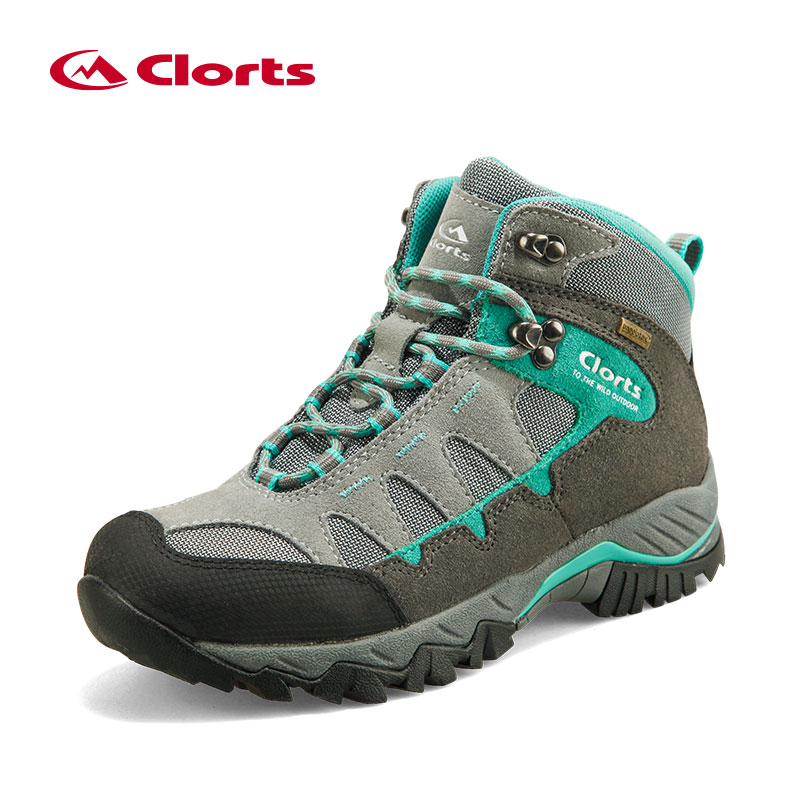 Clorts Women Climbing Shoes Outdoor Boots HKM-823E/F Suede Leather Hiking Boots Waterproof Non-Slip Women Trekking Shoes clorts women hiking shoes outdoor trekking shoes waterproof lace up mountain shoes suede leather female climbing shoes hkl 826e