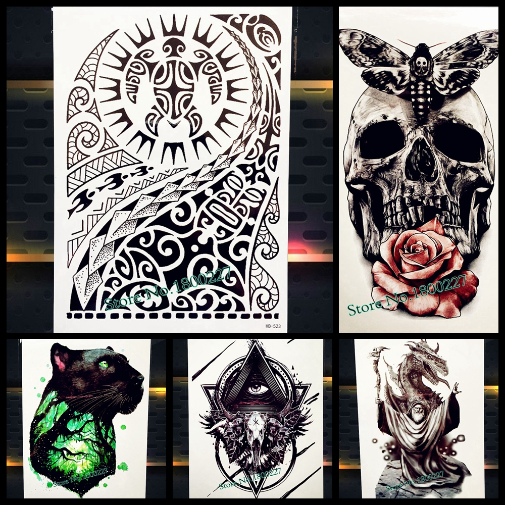 Online buy wholesale temporary tattoo arm sleeves from for Wholesale temporary tattoos