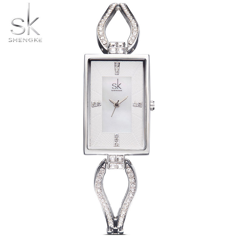 SK New Women's Fashion Diamond Armbandsur Top Luxury Brand Square - Damklockor - Foto 3