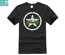 2019 Summer Cotton Tee Shirt Willys jeep USA star t-shirt patriotic nostalgia WWII d-day military American Fashion T-shirt цена