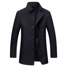 High quality hand made double face wool coats men 2018 new style smart casual single breasted stand collar woolen outerwear